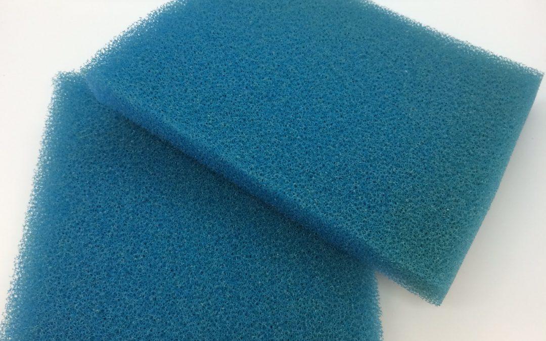Schaumstoff Filtermatten, blau, Zuschnitt